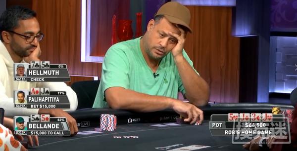 【蜗牛扑克】真是冤家!Palihapitiya两把牌遭受重创;有惊无险!Elton tsang吊打谈轩成功上岸!
